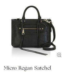 Micro Regan Satchel- black and gold